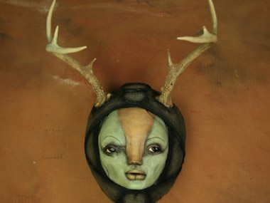 scott radke – sculpture mixed media – antlers-14sm