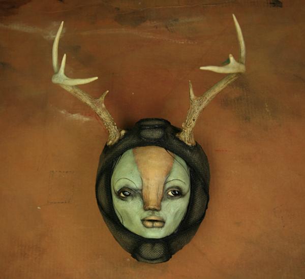 scott radke – sculpture mixed media – antlers-14sm