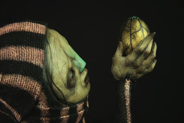 scott radke – sculpture mixed media – pinkclown-detail1