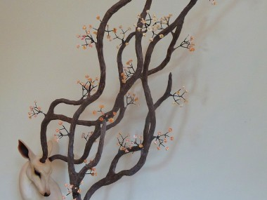 Natasha Cousens – Life's breath entwined  – Floral animal sculpture
