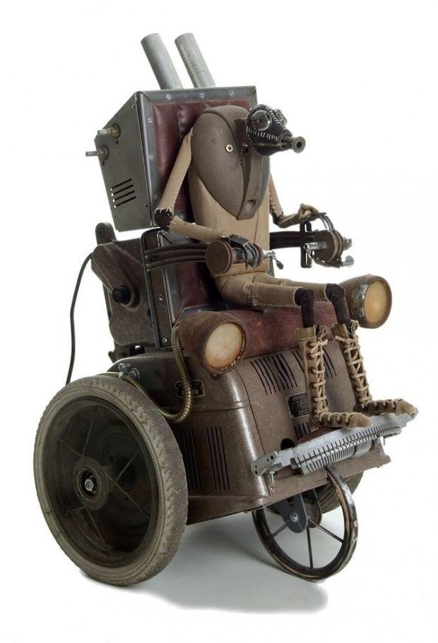 Stephane Halleux – Steampunk sculptures