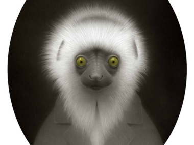 Travis Louie – Lemur Wisdom #pencil #art #drawing #sketch
