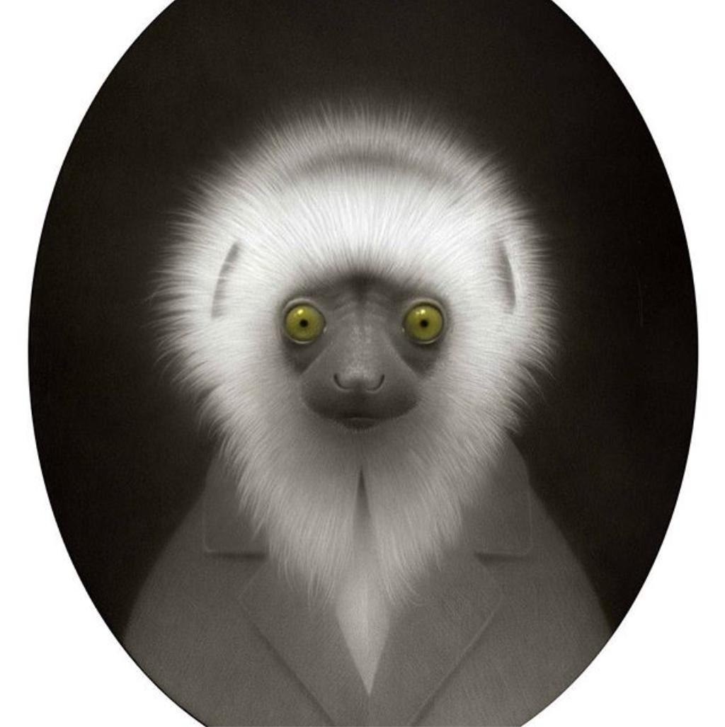 Travis Louie – Lemur Wisdom #pencil #art #drawing #sketch