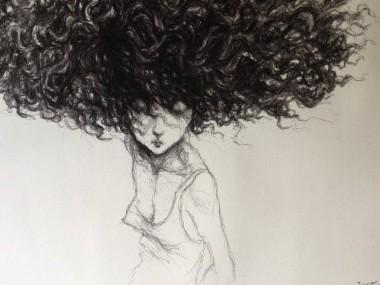 Valerie Hadida – Mine noir dessin