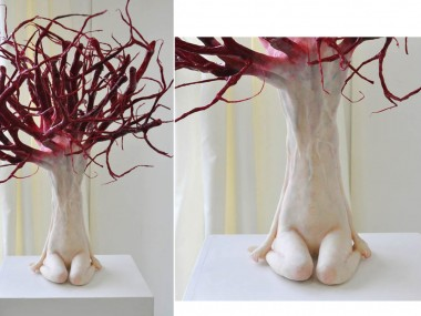 Yui Ishibashi – The tree – 70×51×50cm – steel wire,resin clay -2011