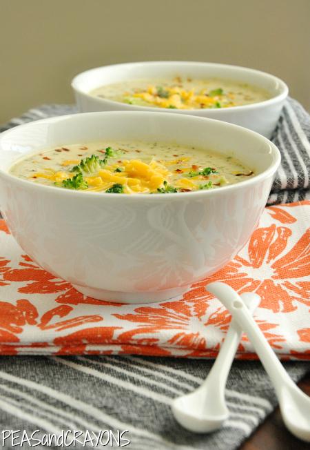 Soupe de broccoli au fromage