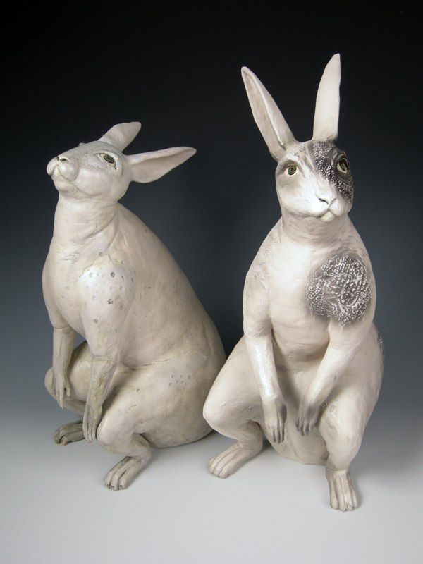 kelly connole-Frances and Franca – ceramic sculpture