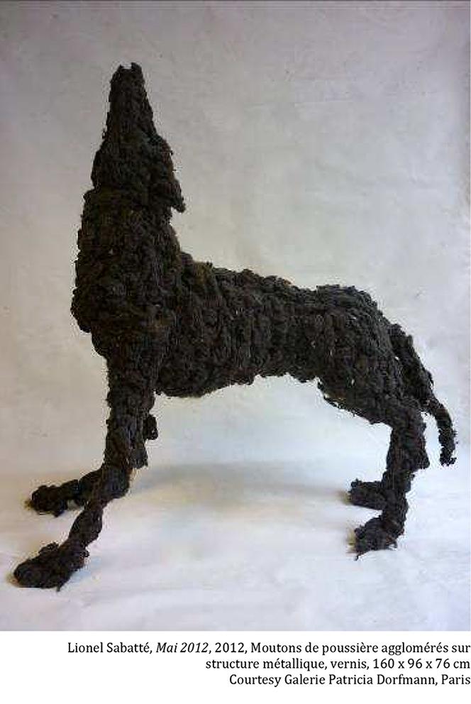 Lionel sabatte - Loup fait en moutons de poussiere