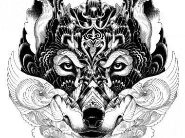 Artist Iain Macarthur wolf
