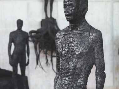 Aron Demetz – Burning Man  230 x 100 x 100 cm, 2010