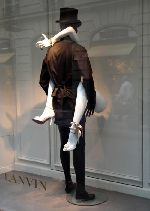 Dirty & Fabulous Valentine Window Display-Lanvin shoes