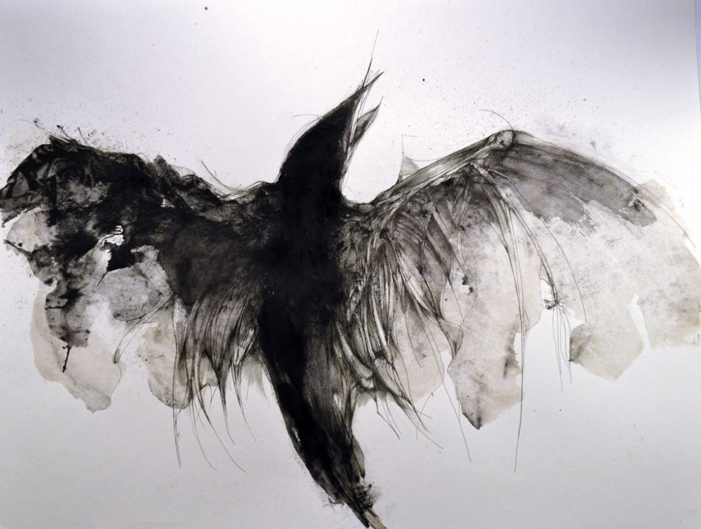 Eric Lacombe - AN018 : 50 x 65 cm : acrylic and pen on paper / 2014