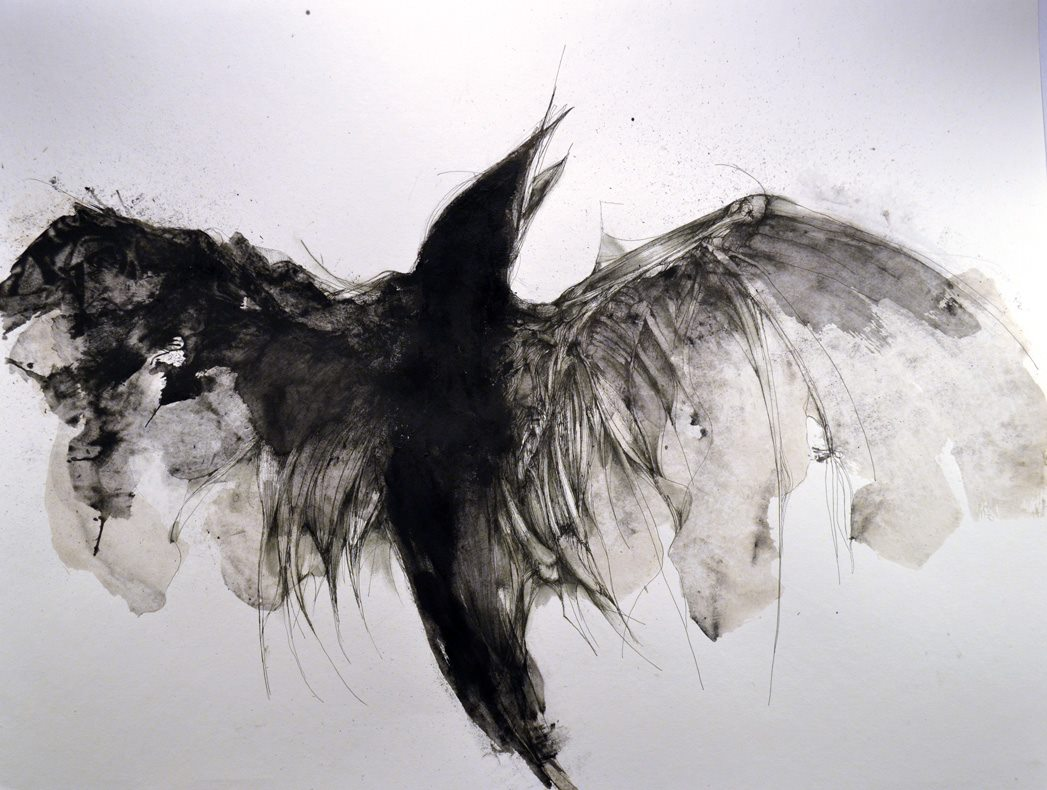 Eric Lacombe – AN018 : 50 x 65 cm : acrylic and pen on paper / 2014