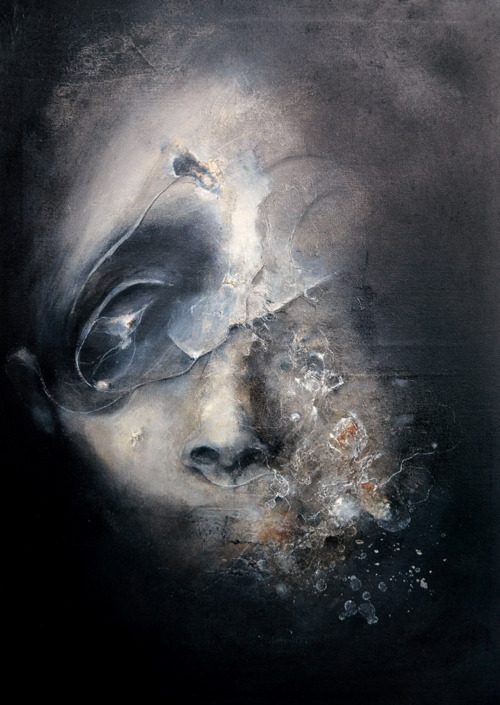 Eric Lacombe – mixed media paintings