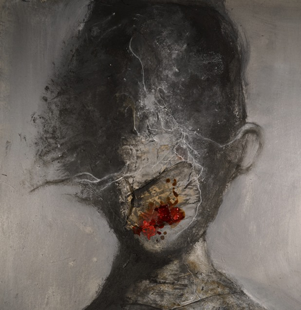 Eric Lacombe – mixed media painting