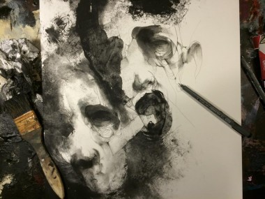 Eric Lacombe – wip painting