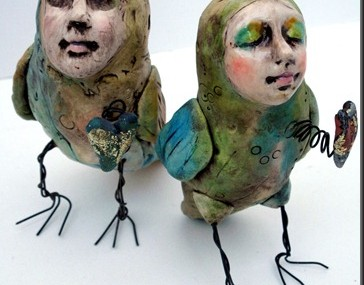Lisa Renner – BIrd-Peep-duo – art sculpture