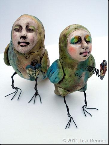 Lisa Renner – BIrd-Peep-duo – art sculpture