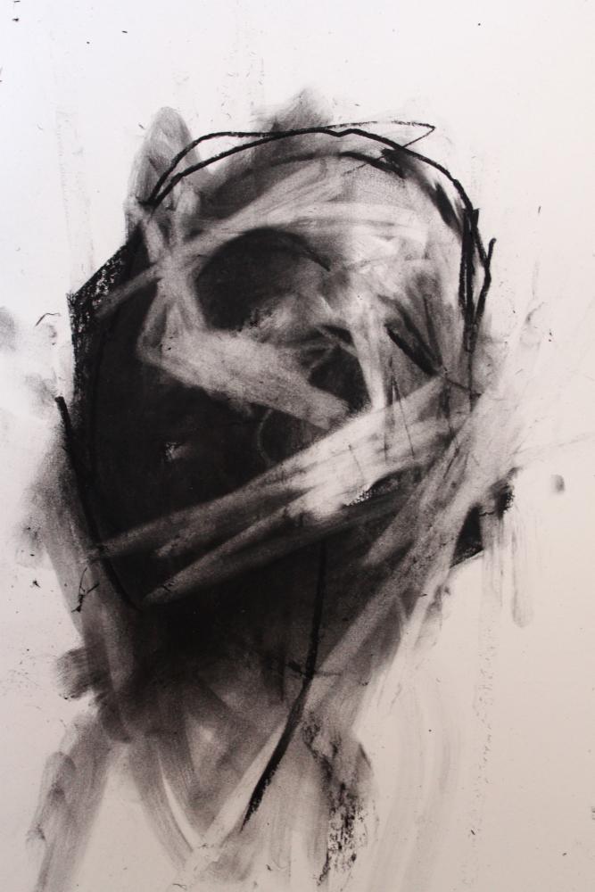 antony-micallef-lazarides-gallery-black-portrait dead