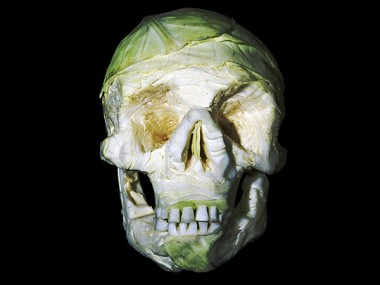 fruit-skull sculptures -Dimitri Tsykalov