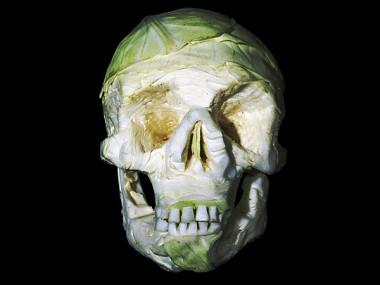 fruit-skull sculptures -Dimitri Tsykalov