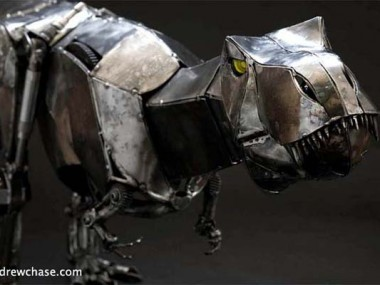 Mechanical metal sculptures – Rex -Andrew Chase