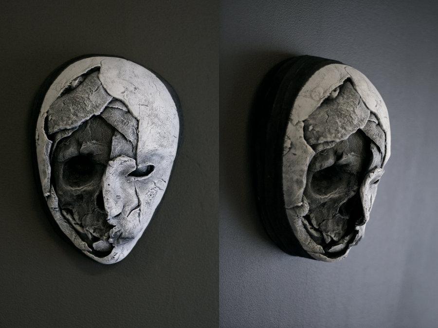new mask – half skull by torvenius