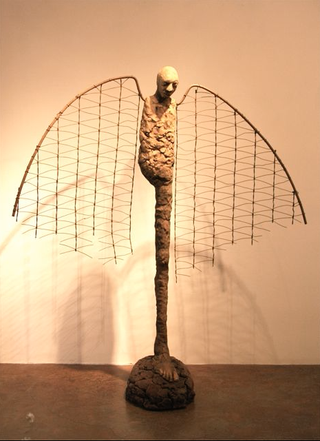 william catling – sculptures – Ceramic, steel and wire