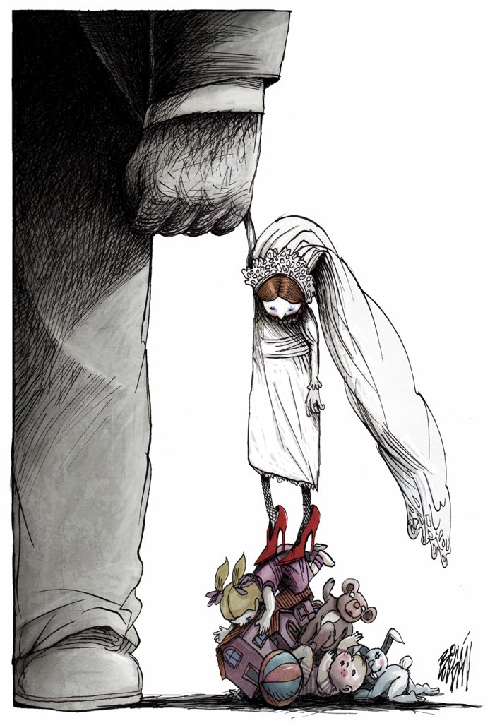 Angel Boligan – Girl wedding #comic #illustration #caricature