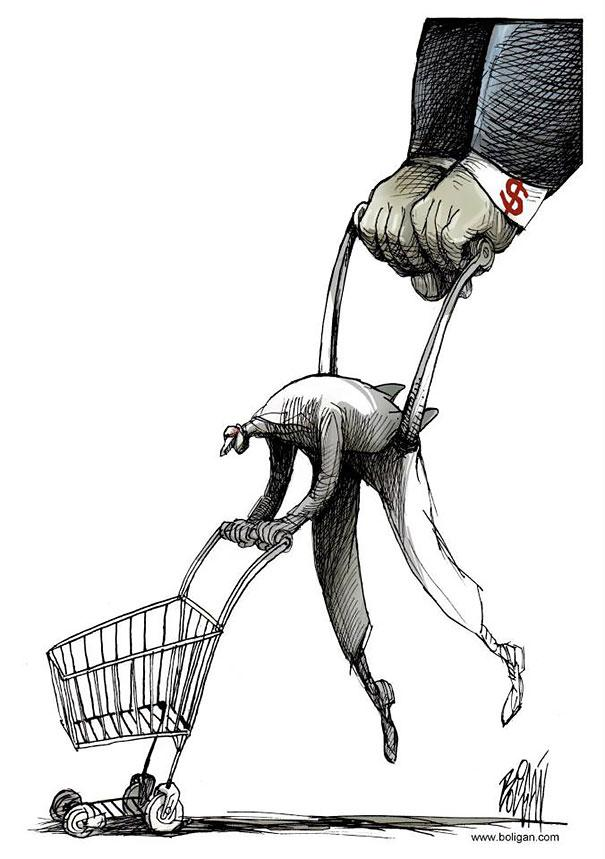 Angel Boligan illustration comic-satire cartoons