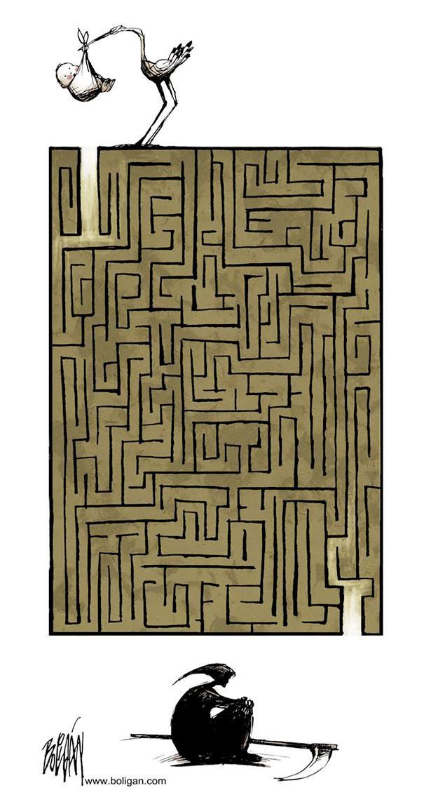 Angel Boligan illustration comic-satire