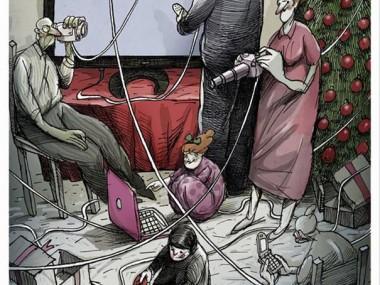 Angel Boligan illustration comique sociale