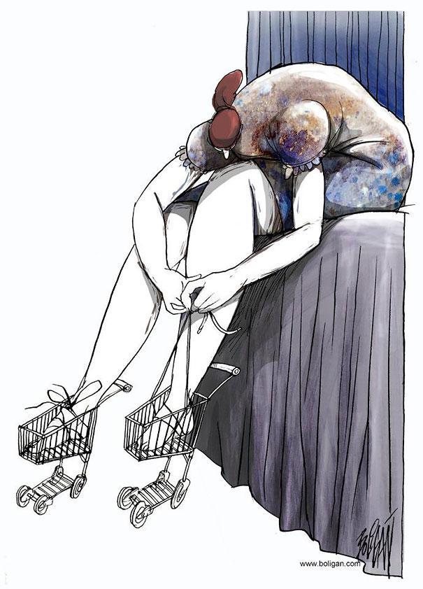 Angel Boligan illustration humor