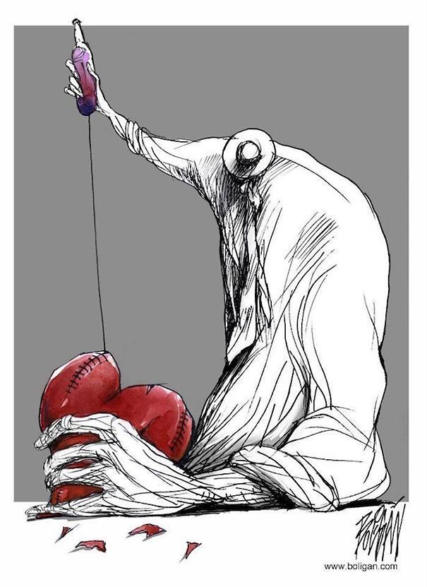Angel Boligan illustration satire dessins