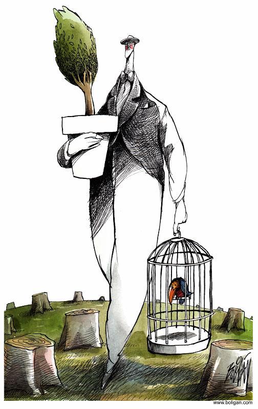 Angel Boligan illustration satire sociale