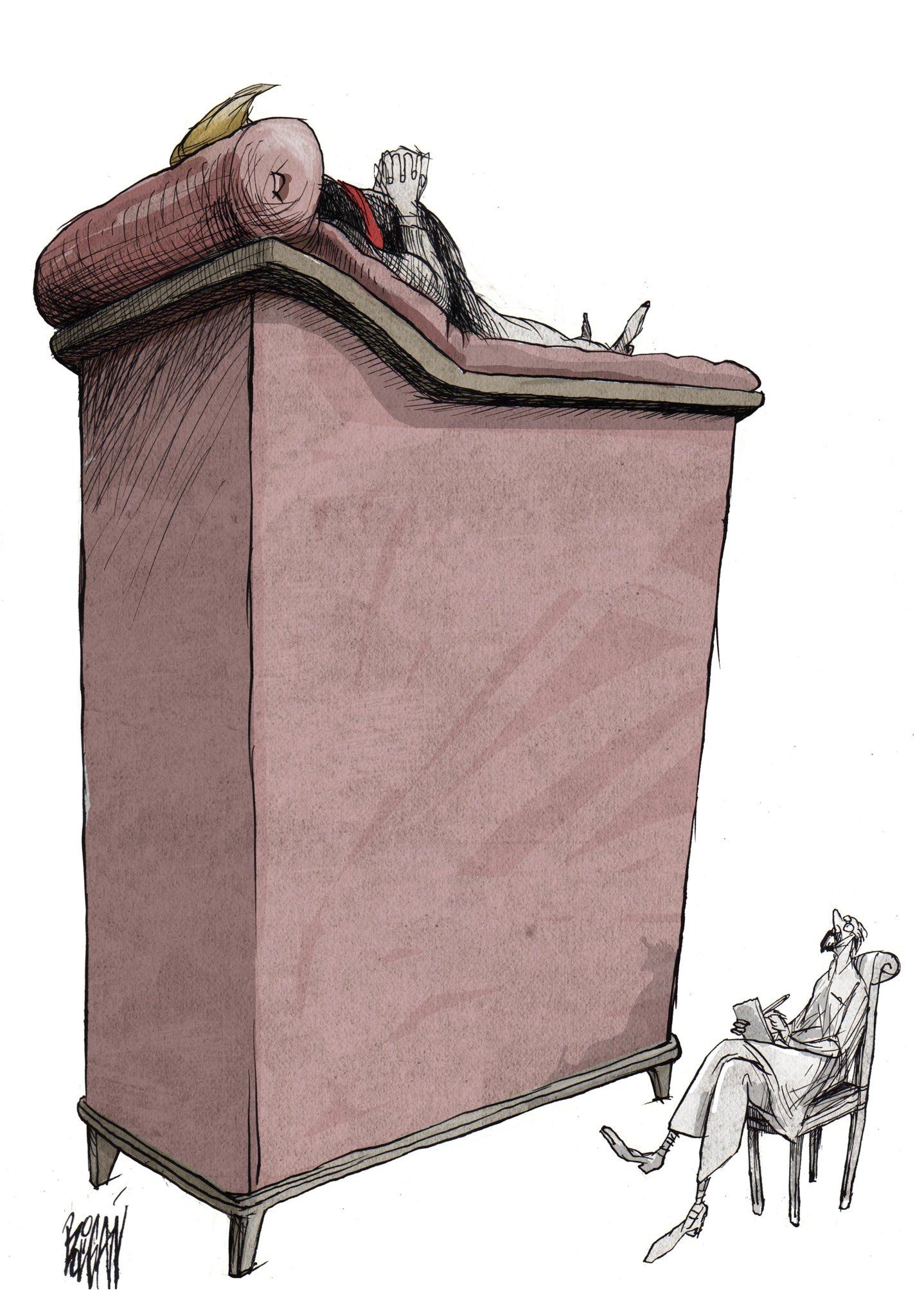 Angel Boligan – Satiric cartoons – El narcisista #Trump