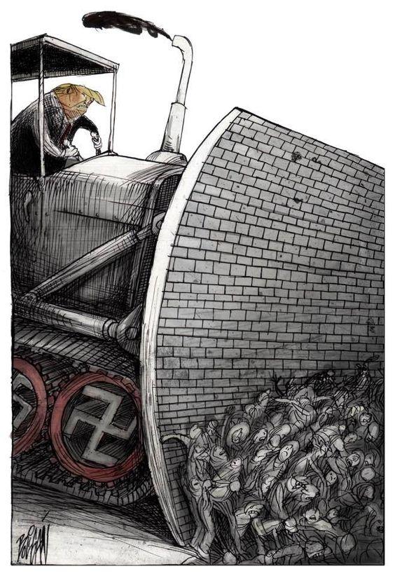 Angel Boligan caricacura #trumpwall