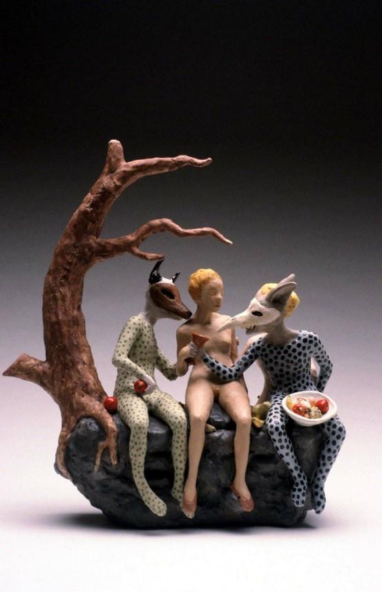 Carrieanne Hendrickson – Goblin Market ( Teapot)- Figurative sculptures
