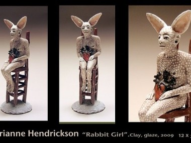 Carrieanne Hendrickson – Seated Rabbit figure – Figurative sculptures