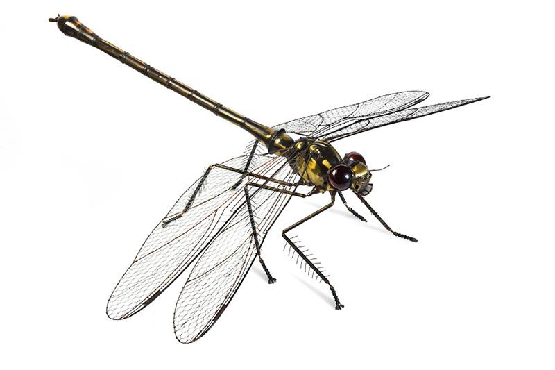 Edouard Martinet - Dragonfly - 37″ x 49″ x 15″ / steampunk sculpture art
