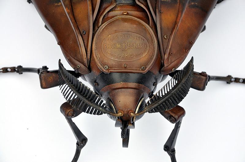 Edouard Martinet – Moth detail – 31x16x7  / steampunk sculpture art