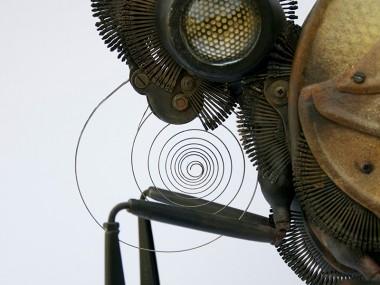 Edouard martinet -Butterfly. 25″ x 14″ x 22″ – detail  / steampunk sculpture art