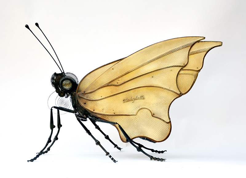 Edouard martinet – Butterfly. 25″ x 14″ x 22″ / steampunk sculpture art