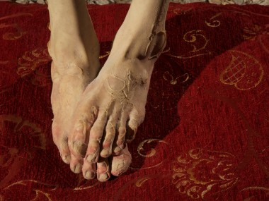 Francesco Albano – foot – hyperrealiste sculpture