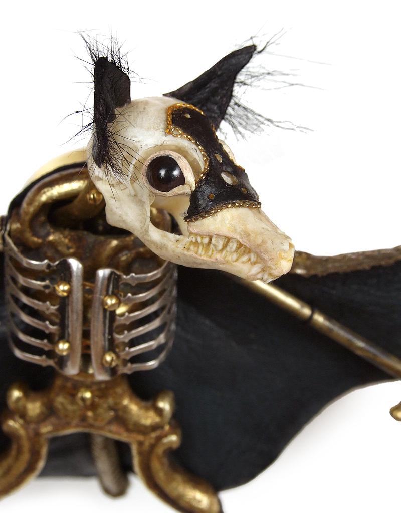 Jessica Joslin – Lautrec – Brass, bone, glove leather, fur, glass eyes2