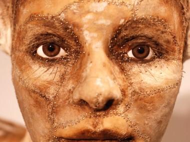 Kate Clark – taxidermie art sculpture animal / Human detail head