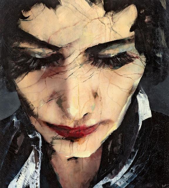 Lita Cabellut  -portraits huile