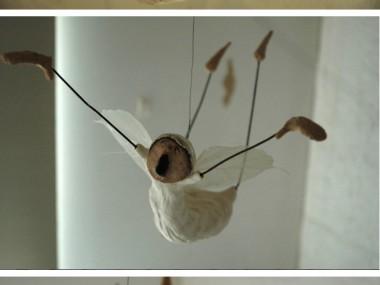 Maria Øverbye -Flyvende engel – sculptures ceramics figuratif
