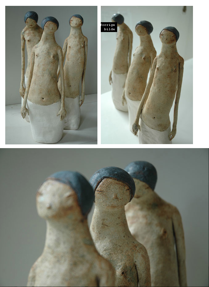 Maria Øverbye -Kvinne med langt liv –  sculptures ceramics figuratif