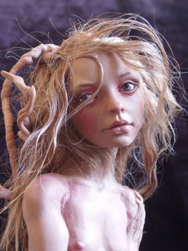 Nita collins – Dryad Lianna close / sleetwealth Art dolls